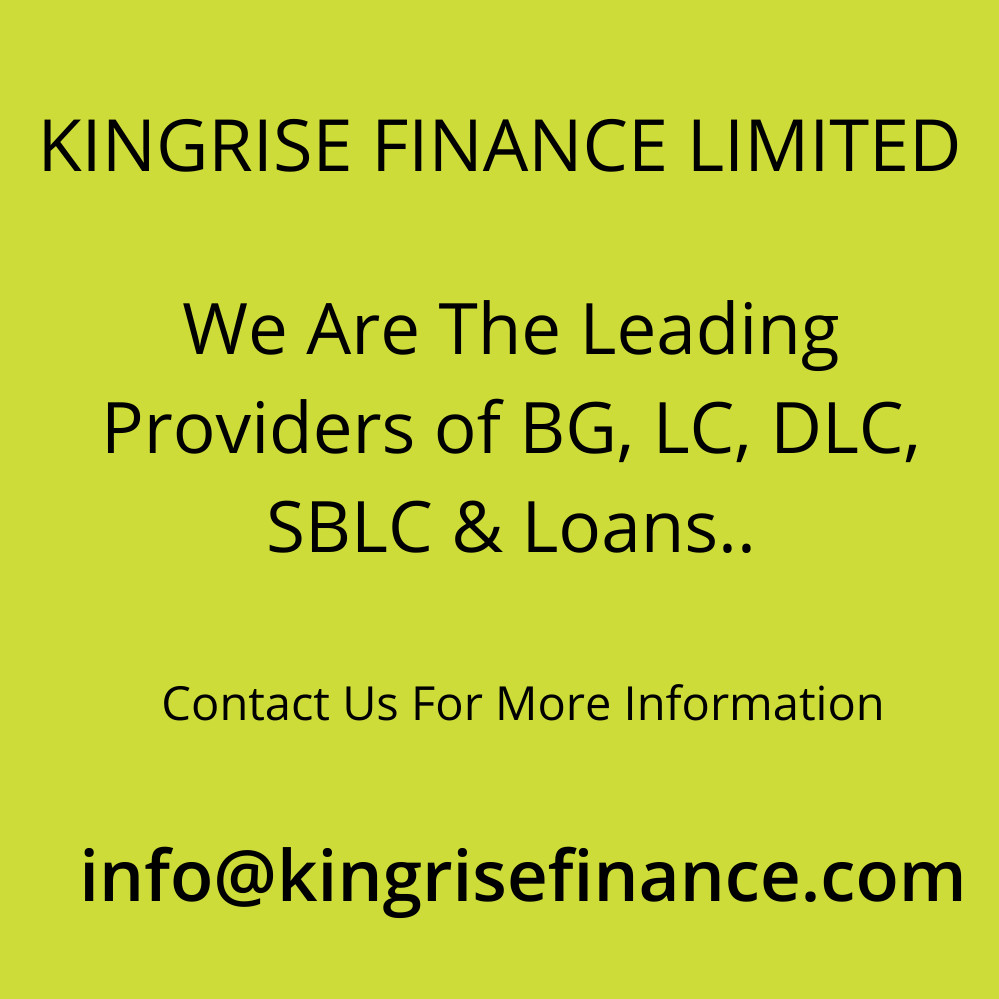 lease sblc, bank guarantee provider, lease standby letter of credit- Kingrise Finance Limited