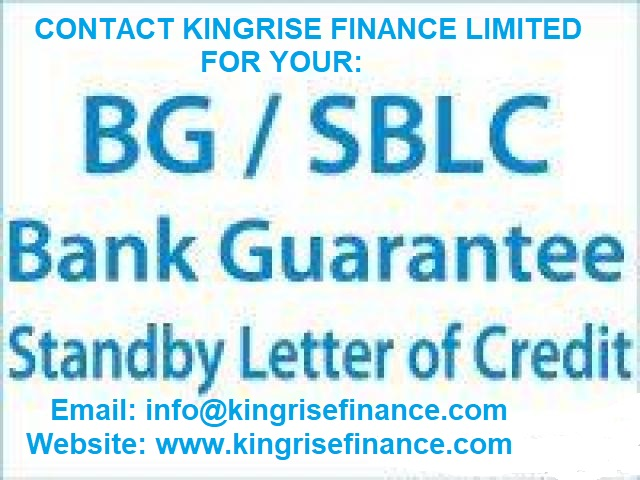 Standby Letter of Credit Provider, Lease Bank Guarantee, Lease SBLC Provider, BG/SBLC For Lease