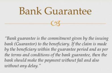 bg bank guarantee meaning, bank guarantee provider