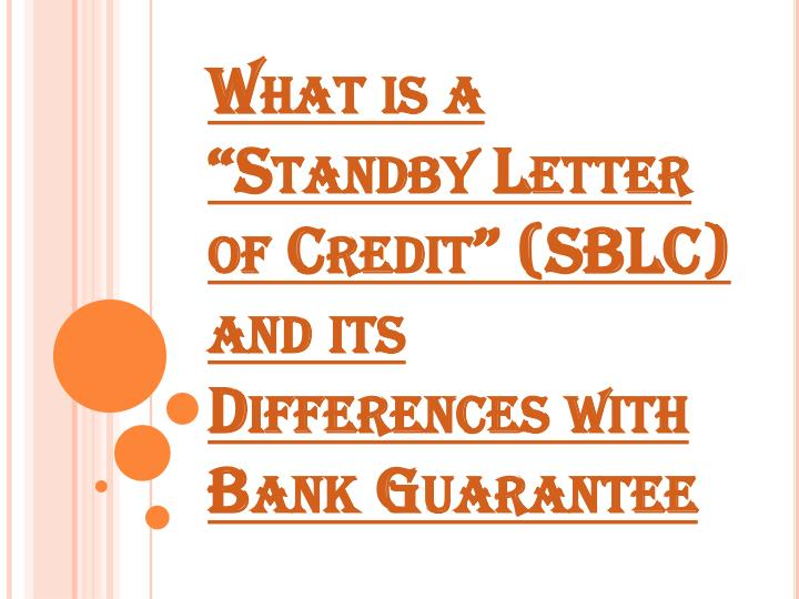 what is standby letter of credit (sblc) | uses of sblc | sblc providers